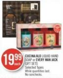 Cucina/alo Liquid Hand Soap or Every Man Jack Gift Sets