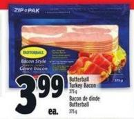 Butterball Turkey Bacon - 375 g