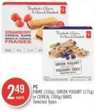 PC Fibre (150g) - Greek Yogurt (175g) or Cereal (300g) Bars
