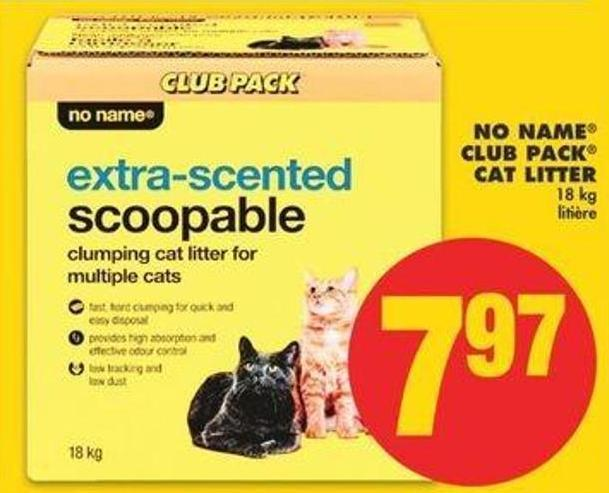 No Name Club Pack Cat Litter 18 Kg