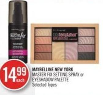Maybelline New York Master Fix Setting Spray or Eyeshadow Palette