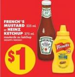 French's Mustard 225 mL Or Heinz Ketchup 375 mL