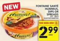Fontaine Santé Hummus - Dips Or Spreads