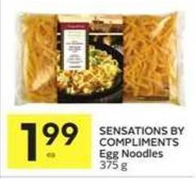 Sensations By Compliments Egg Noodles