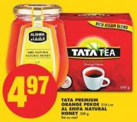 Tata Premium Orange Pekoe - 216's or Al Shifa Natural Honey - 500 g