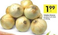 Vidalia Onions Product of USA 4.39/kg