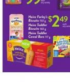 Heinz Farley's Biscuits 150 G Heinz Toddler Biscuits 160 G Heinz Toddler Cereal Bars 117 G