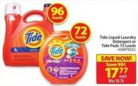 Tide Liquid Laundry Detergent or Tide Pods