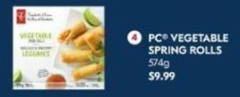 PC Vegetable Spring Rolls 574g