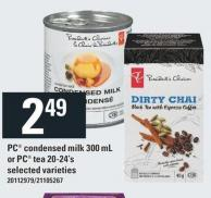 PC Condensed Milk 300 Ml Or PC Tea 20-24's