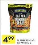 Planters Craft Bar Mix - 550 G