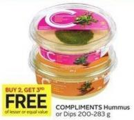 Compliments Hummus or Dips