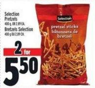 Selection Pretzels 400 g - or 2.89 Ea.