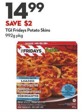 Tgi Fridays Potato Skins 992g Pkg