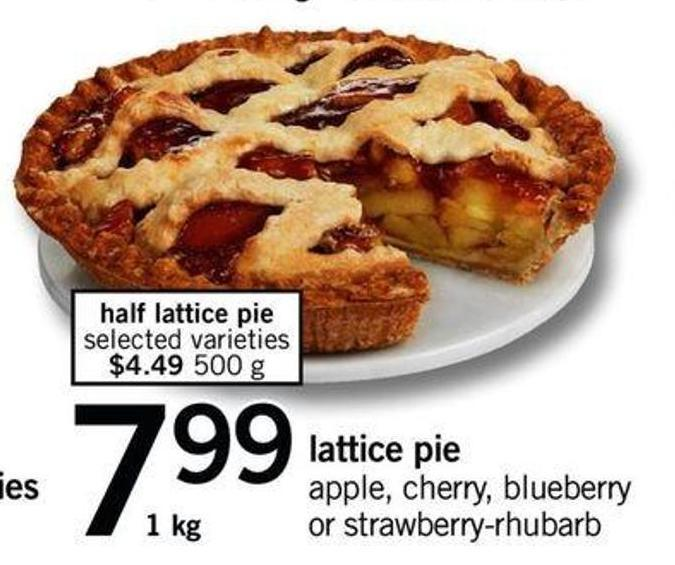 Half Lattice Pie - 1 Kg