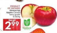 Honeycrisp Apples Canada Fancy Grade 6.59/kg