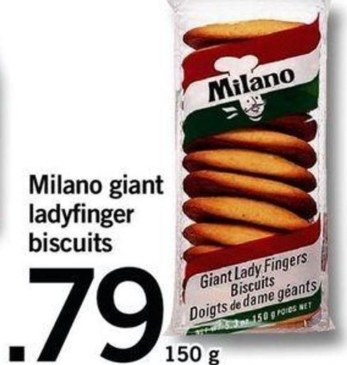 Milano Giant Ladyfinger Biscuits - 150 G