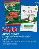 Russell Stover No Sugar Added Chocolate Candy Select Types