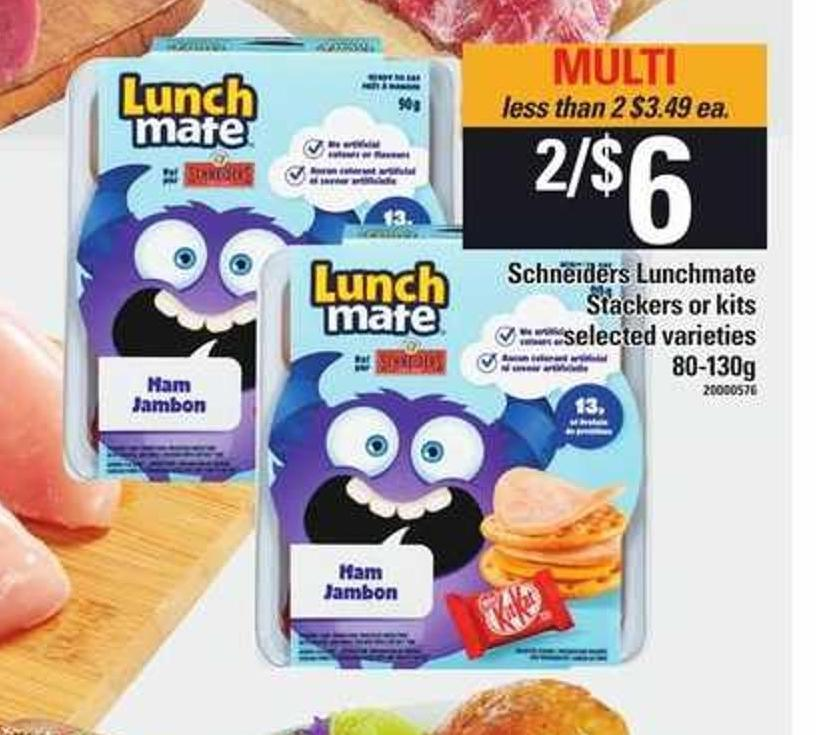 Schneiders Lunchmate Stackers Or Kits - 80-130g