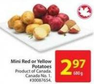 Mini Red or Yellow Potatoes