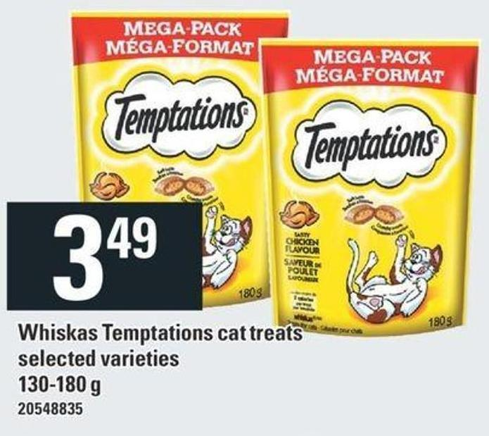 Whiskas Temptations Cat Treats - 130-180 g