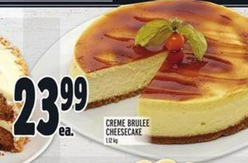 Front Street Bakery Creme Brulee Cheesecake