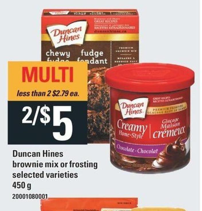 Duncan Hines Brownie Mix Or Frosting - 450 G