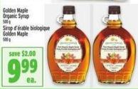 Golden Maple Organic Syrup 500 g
