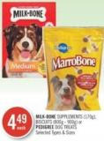 Milk-bone Supplements (170g) - Biscuits (800g - 900g) or Pedigree Dog Treats