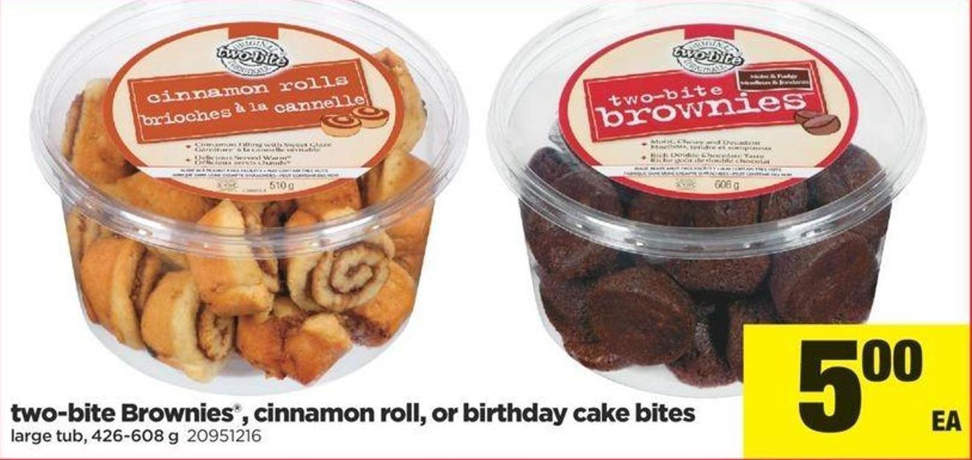 Two-bite Brownies - Cinnamon Roll - Or Birthday Cake Bites - 426-608 G