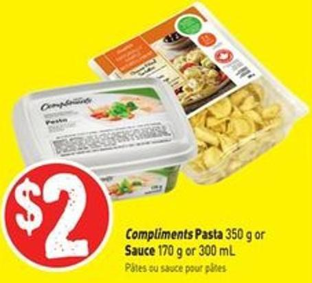 Compliments Pasta 350 g or Sauce 170 g or 300 mL