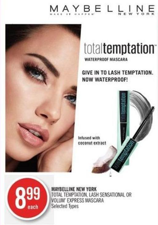 Maybelline New York Total Temptation - Lash Sensational Or Volum' Express Mascara