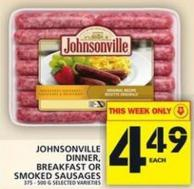 Johnsonville Dinner - Breakfast Or Smoked Sausages
