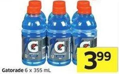 Gatorade 6 X 355 mL