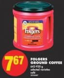 Folgers Ground Coffee - 642-920 g
