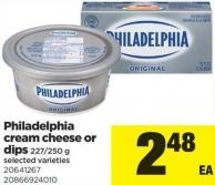 Philadelphia Cream Cheese Or Dips - 227-250 g