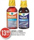 Dayquil or Nyquil Cold & Flu Products