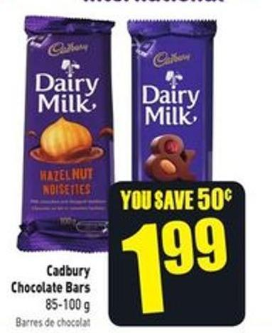 Cadbury Chocolate Bars 85-100 g