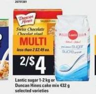 Lantic Sugar 1-2 Kg Or Duncan Hines Cake Mix 432 g