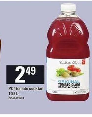 PC Tomato Cocktail - 1.89 L