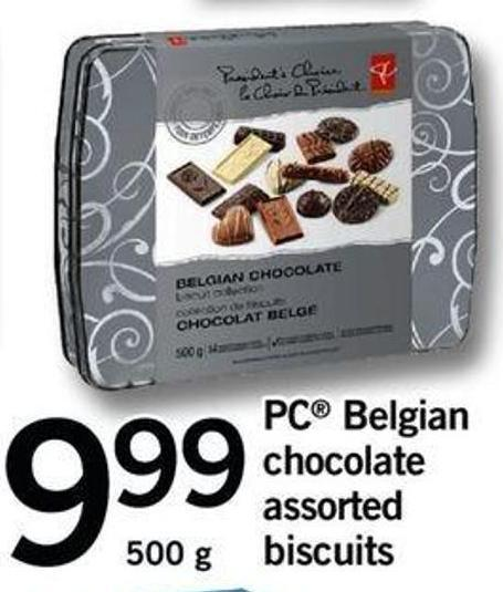 PC Belgian Chocolate Assorted Biscuits - 500 G