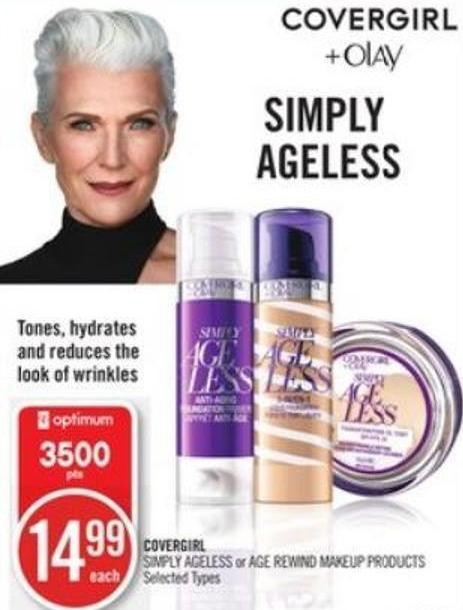 Covergirl Simply Ageless or Age Rewind Makeup Products