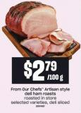 From Our Chefs Artisan Style Deli Ham Roasts