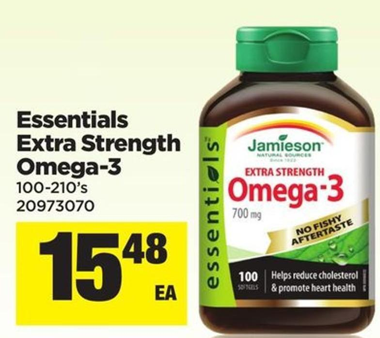 Essentials Extra Strength Omega-3 - 100-210's