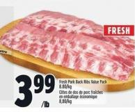 Fresh Pork Back Ribs Value Pack