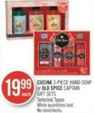 Cucina 3-piece Hand Soap or Old Spice Captain Gift Sets