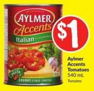 Aylmer Accents Tomatoes 540 mL