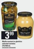 Maille Mustard Or Gherkins - 375/400 Ml