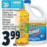 Pine-sol Multi-purpose Cleaners 1.41 L Or Clorox Bleach 3.57 L