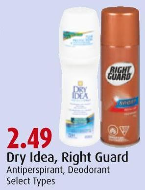 Dry Idea - Right Guard Antiperspirant - Deodorant